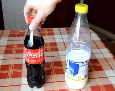 コーラに牛乳
