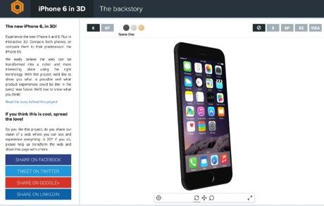 iPhone 6 in 3D