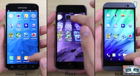iPhone 6とGalaxy S5とHTC One (M8)